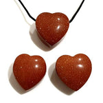 Goldstone Heart Pendant 30mm
