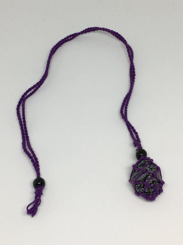 Purple Macrame 'Net' Necklace