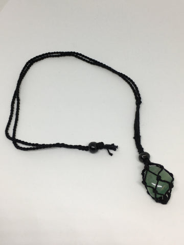 Black Macrame 'Net' Necklace