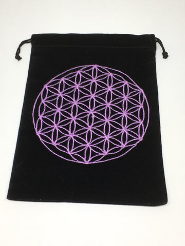 Flower of Life Velvet Pouch