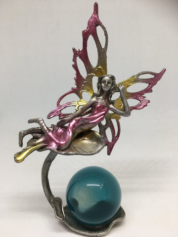 Flying Fairy Pewter Stand