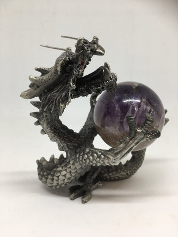 Dragon Guardian Pewter Stand
