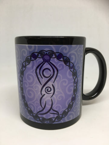 Black Ceramic Goddess Mug
