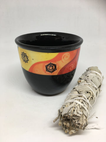 Ceramic Smudge Holder - Chakra (small)