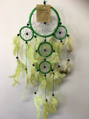Green/Yellow Dream Catcher 9cm