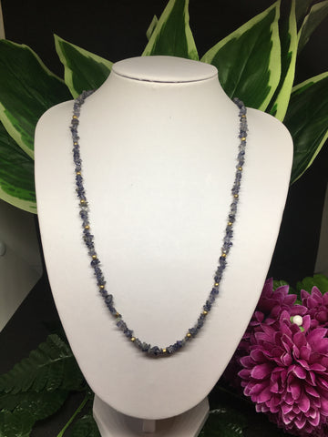 Iolite Chip Necklace 32""