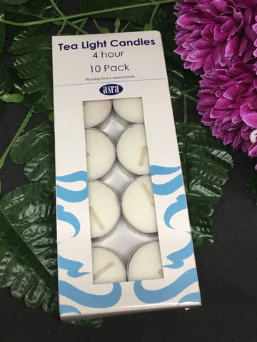 4 Hour Tealight Candles 10 pack
