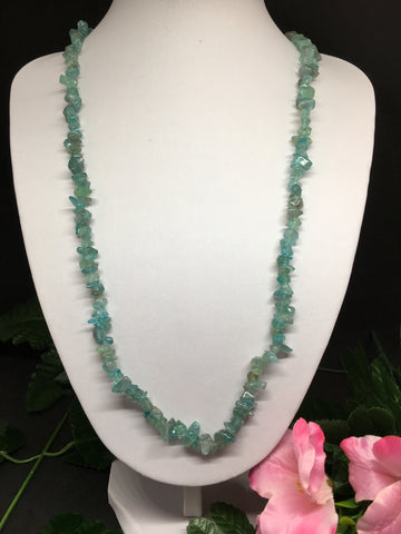 Apatite Chip Necklace 90cm