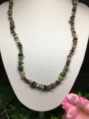 Indian Agate Chip Necklace 90cm