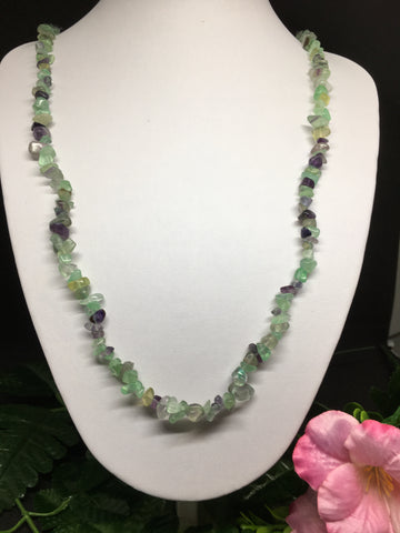 Fluorite Chip Necklace 90cm
