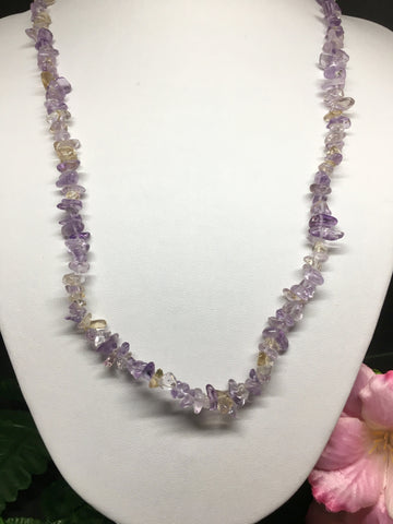 Ametrine Chip Necklace 90cm