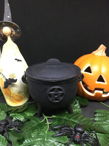 Cast Iron Pentacle Cauldron 10.5cm