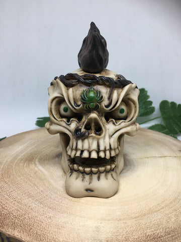 Smoking Skull Head Cone Burner