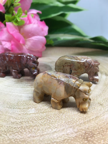 Hippo Soapstone Carving
