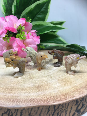 Dolphin Soapstone Carving
