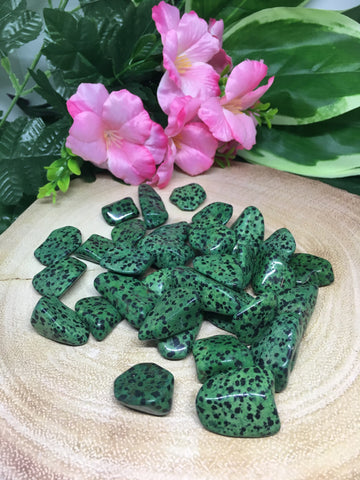 Green Dalmation Jasper Tumble Stones