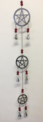 3 Chrome Hanging Pentacles