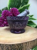 "3.5"" Triple Moon Mortar & Pestle"
