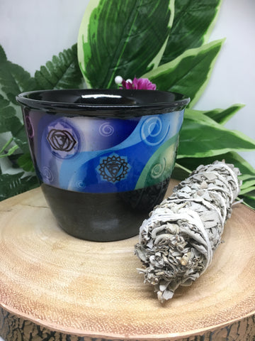 Ceramic Smudge Bowl - Chakra  (large)