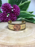 Om Copper Bracelet - Wide Band