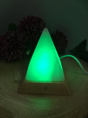 Himalayan Mini Pyramid USB Salt Lamp (colour changing)