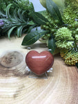 Dark Red Cats Eye Puff Heart - 45mm
