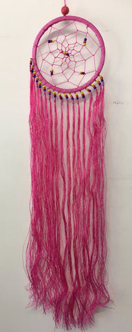 Pink String Dream Catcher 12cm