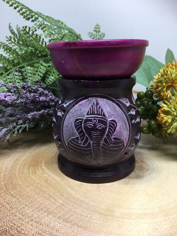 Purple Ganesh Oil Burner