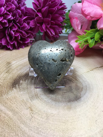 Pyrite Cluster Heart #182 - 47mm