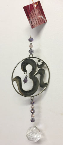 Om Charm Crystal Sun Catcher