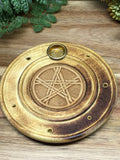 Pentacle Round Incense Holder