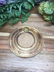 Om in Lotus Round Incense Holder