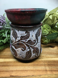 Leaf Carved Soapstone Oil Burner