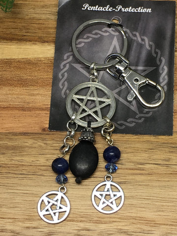 Pentacle Key Ring
