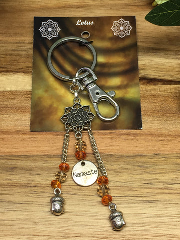 Namaste Lotus Key Ring