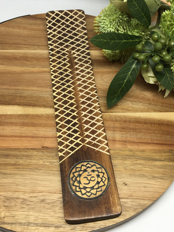 Om Lotus Incense Holder