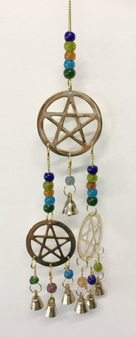 3 Pentacles with Brass Bells