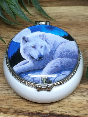 Lisa Parker Wolf Trinket Box