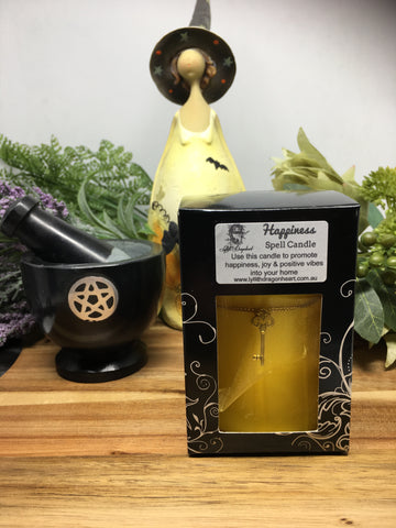 Key to Happiness Spell Candle - Lyllith Dragonheart