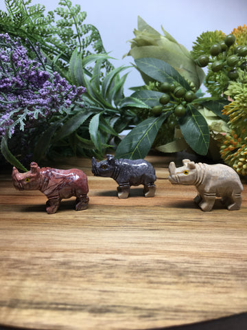 Rhinoceros Soapstone Carving
