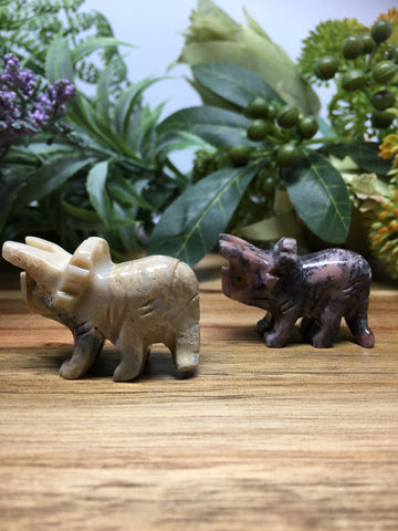 Triceratops Soapstone Carving