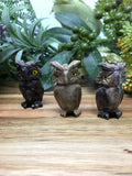 Owl Soapstone Carving