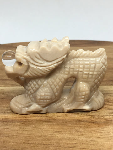 Mookaite Dragon Carving
