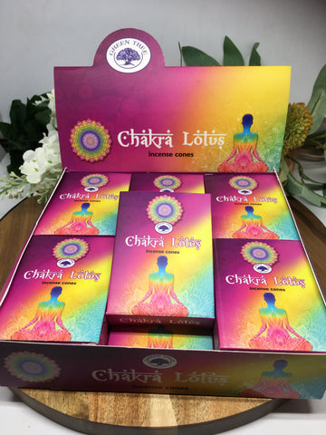 GREEN TREE Chakra Lotus Incense Cones