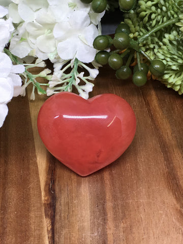 Strawberry Obsidian Puff Heart - 45mm
