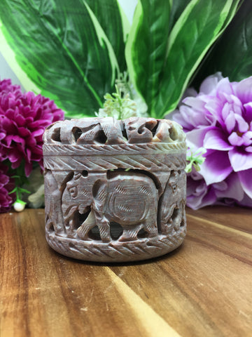 Soapstone Carved Trinket Boxes