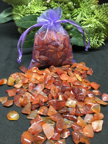Carnelian Crystal Chips - 100g