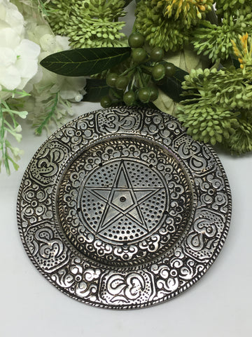 Aluminium Pentacle Incense Holder