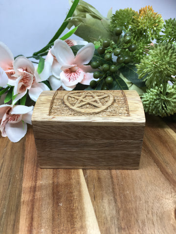 Small Wooden Pentagram Box