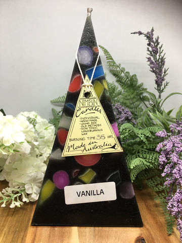 Black Funky Pyramid Candle - medium